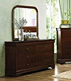 Homelegance Abbeville 6 Drawer Dresser & Mirror in Brown Cherry - (Dresser Only)
