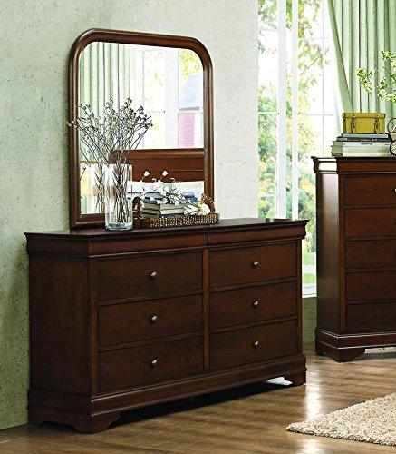 Homelegance Abbeville 6 Drawer Dresser & Mirror in Brown Cherry - (Dresser Only) by Homelegance