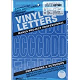 """Graphic Products Permanent Adhesive Vinyl Letters and Numbers, 3"""", Blue, 160 Pack"""