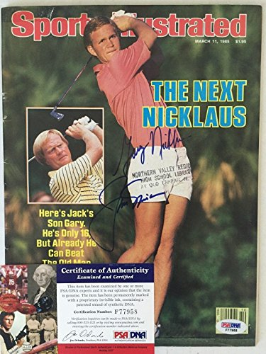- Jack Nicklaus Gary Sports Illustrated Autograph Auto Certified Authentic - PSA/DNA Certified - Autographed Golf Magazines
