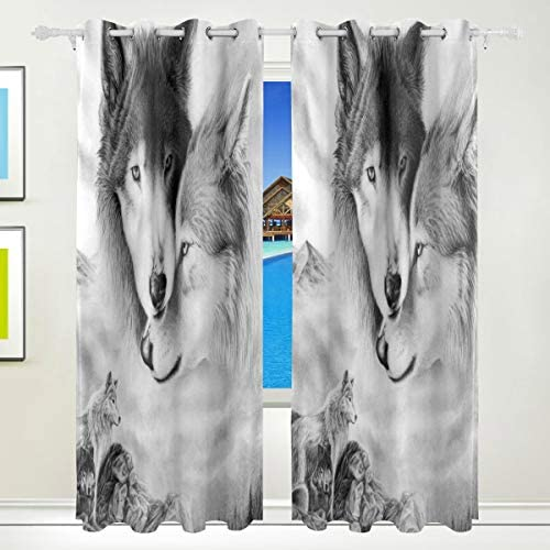Blackout Curtains Wolf Thermal Insulated Curtains Window Treatment