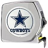 NFL Dallas Cowboys Chrome Tape Measure, 25-Feet, Silver
