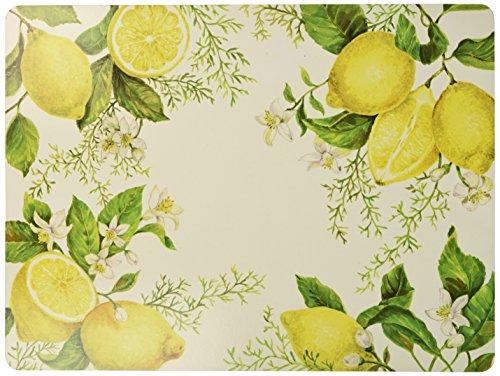 Benson Mills Elegant Sweet Citrus Cork Placemat (Set of 4), 12″ x 16″, Multi