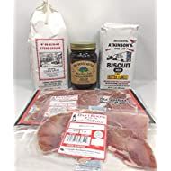 Country Ham Breakfast Meal Kit With Biscuit Mix - Grits And Jelly Flavor of Your Choice (Muscadine Jelly)