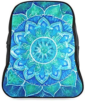 Abstract Blue Painted Picture Circle Travel Bag For College School Bags For Girls Travel Bags For Women Print Zipper Students Unisex Adult Teens Gift