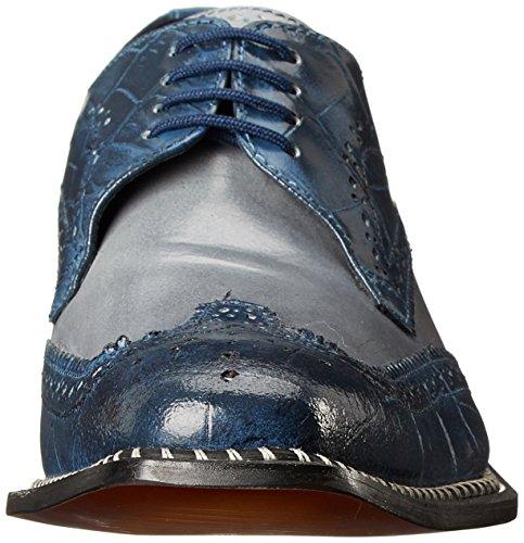 Giorgio Brutini Hommes Caster Oxford Bleu / Gris