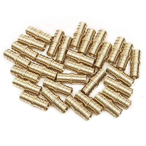 (PEX 1/2 Barbed Straight Coupling Crimp Fitting 25 pcs/Brass / 0.5)