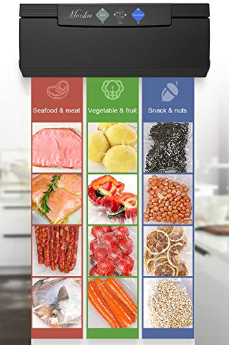 MOOKA Vacuum Sealer 4 IN 1 Vacuum Sealing System with Cutter, 10 Sealing Bags (FDA-Certified) - FRESH UP TO 5x Longer | Dry & Moist Modes | With Up To 40 Consecutive Seals (ETL Safety Certified) by Mooka (Image #5)