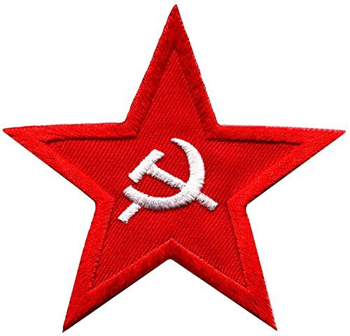 (Soviet red star badge military insignia USSR hammer & sickle embroidered applique iron-on patch new)