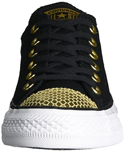 Converse All Star Metallic Toecap - Zapatillas de casa Mujer Mehrfarbig (Black/Gold/White)