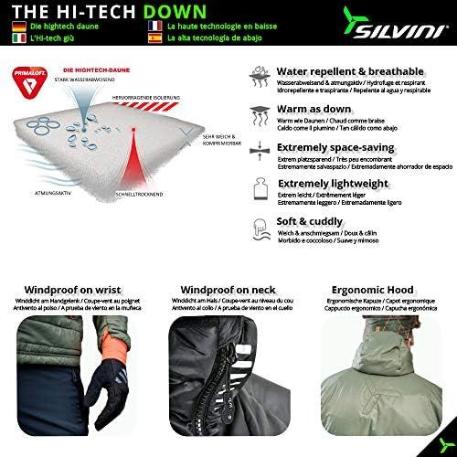 SILVINI Rutor Light Puffer Jacket Men Hooded Puffer Jacket Synthetic Down Jacket