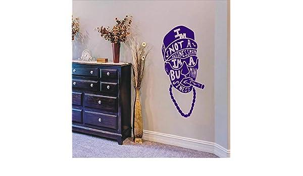jiuyaomai Wall Decal Sticker Skull A Man SMO con Citas No Soy un ...