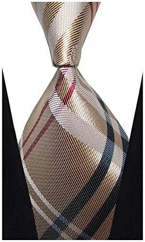 w3dayup mens Classic Tie Necktie Woven Plaid Neck Ties For Men Stripe Neck Tie - Plaid Accessories