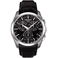 TissotT035.617.16.051.00 Men's Couturier  Black Leather Swiss Quartz Watch with Black Dial