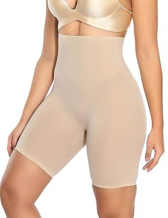79602e5bbb2 High Waist Shapewear Firm Butt Lifter Body Shaper Seamless Boyshorts Beige1  S
