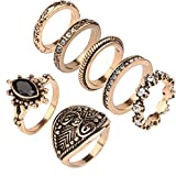 7pcs/Set Bohemian Vintage Punk Antique Gold-Color