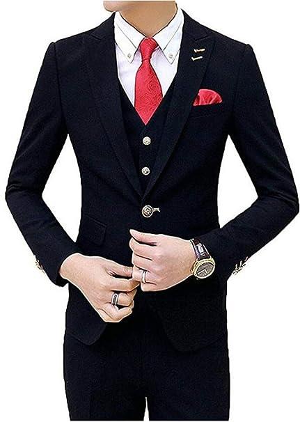 Amazon.com: botong un botón traje de los hombres negros 3 ...