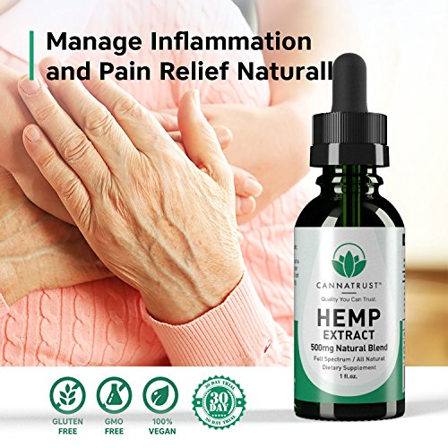 CannaTrust Full Spectrum Hemp Extract Oil - All Natural Blend - for Pain, Anxiety and Inflammation - 500mg Ultra Pure - Sleep Better - Reduce Stress - Restore Balance - 1oz by CannaTrust (Image #6)