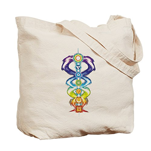 Cafepress–Kundalini chakra–Borsa di tela naturale, tessuto in iuta