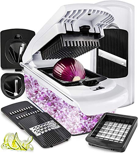 Fullstar Vegetable Chopper Mandoline Slicer Dicer - Onion Chopper - Vegetable Dicer Food Chopper Dicer Pro - Food Choppers and Dicers - Spiralizer Vegetable Cutter - Spiralizer Vegetable Slicer (Best Vegetable Chopper Dicer)