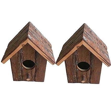 Heritage 20832rustique en bois nidification Nichoir Nichoir Petits oiseaux mésange bleue Robin Sparrow 2 x 20832 Bird Boxes Heritage Pet Products