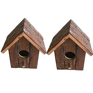 Heritage Madera Rústica 20832 de casa de pájaros para pequeños pájaros como blaum Hierro, petirrojo, Gorriones: Amazon.es: Jardín