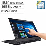 Lenovo Flex 5 15.6'' Full HD Touch Multimode 2-in-1 Notebook Computer, Intel Core i7-7500U, 16GB RAM, 512GB SSD, NVIDIA GEForce 940MX, Windows 10 Home