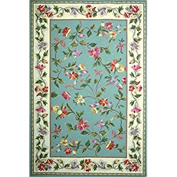 KAS Oriental Rugs Colonial Collection Floral Area Rug, 30