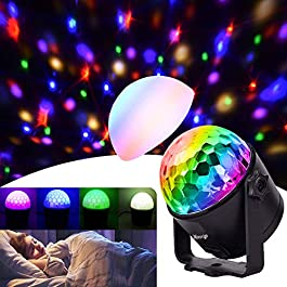 Party Lights Disco Ball Strobe Light Disco Lights, Christmas,Holiday Gifts with Remote Control Dj Lights Stage Light for Festival Bar Club Party Wedding Show Home