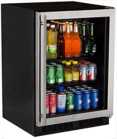 Marvel ML24BCG0RS Beverage Center, Glass Door, Right Hinge, 24 Inch,  Stainless