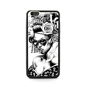 CaseCityLiu - Heart Sheap Glass Girl Japanese Alternative Comics Pattern Black Bumper Plastic+TPU Case Cover for Samsung Galaxy Note4