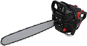 Wailiy 52cc Gas Chainsaws Full Crank 2-Cycle 3.0HP Gas Powered Chain Saws,20-Inch Chain,12500RPM,Tool-Free Chain Tensioning and Automatic Oiling,16.5LBs (Black -58cc)