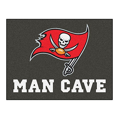 FANMATS 14376 NFL Tampa Bay Buccaneers Nylon Universal Man Cave All-Star (Tampa Bay Buccaneers Team Carpet)