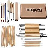 Meuxan 31PCS Ceramic Pottery Tools Polymer Clay Sculpting Kit