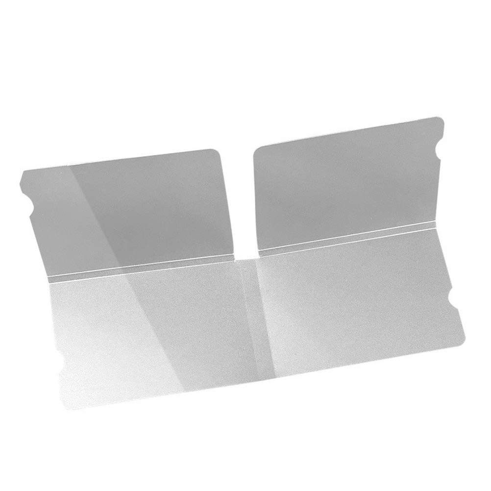 Masken-Cover Aufbewahrungsmappe transparent faltbar Aufbewahrungsmappe f/ür Maske Masken-Etui