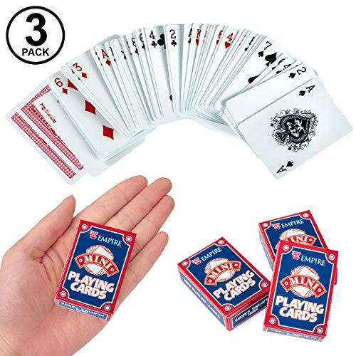- Tigerdoe Mini Playing Cards - Bulk Travel Size Deck of Cards - Queen of Hearts Party Supplies - Casino Theme Poker Party Favors