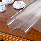 PVC,Waterproof,Tablecloth /Anti-hot,Soft Glass,Plastic ,Round Tablecloth/Coffee Table Meal,Table Mat ,Transparent,Frosted,Crystal Plate-A 60x60cm(24x24inch)
