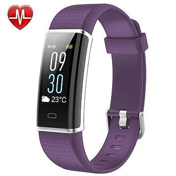 LLLB Pulsera De Fitness, Monitor De Frecuencia Cardíaca, Reloj Inteligente para Mujeres Hombres
