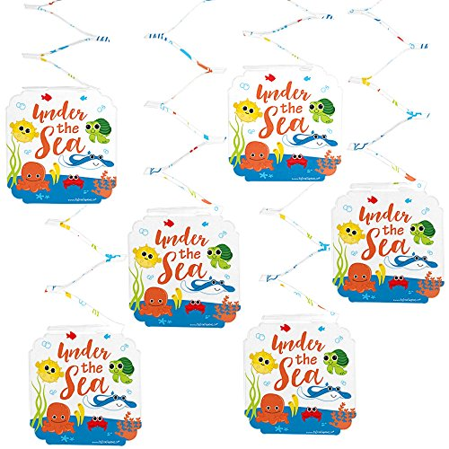 Big Dot of Happiness Under The Sea Critters - Baby Shower or Birthday Party Hanging Decorations - 6 Count ()