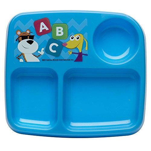 Zak Designs Toddlerific 7-inch Divided Plate, Baby Genius