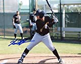 Kevin Kramer Pittsburgh Pirates Signed Autographed At Bat 8x10 Photo W/coa - Autographed MLB Photos