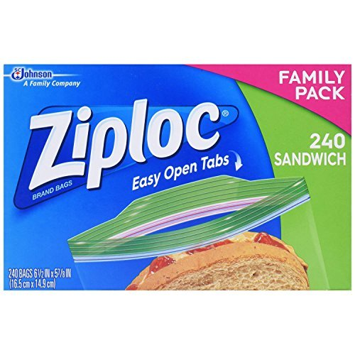 Ziploc Sandwich Bags Easy Open Tabs, 240 Count (1)