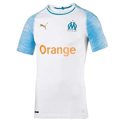 24ae13a5 Amazon.com : PUMA 2018-2019 Olympique Marseille Home Authentic Evoknit  Football Soccer T-Shirt Jersey : Sports & Outdoors