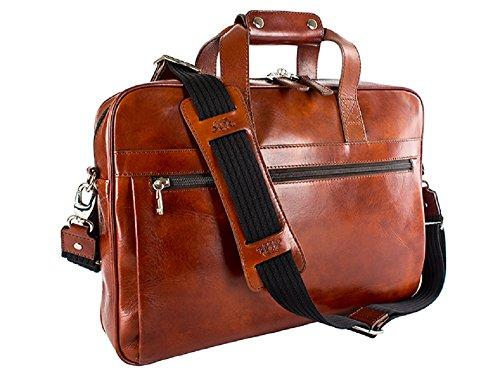 - Bosca Old Leather Single Gusset Stringer Bag (Amber)