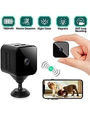 Mini Kameras,1080P P2P Mini Tragbare Nanny WLAN Klein Kamera,Weitwinkel 150° Überwachungskamera mit Bewegungserkennung und Nachtsicht Unterstützung iOS/Android Micro IP Security Kamera MEHRWEG