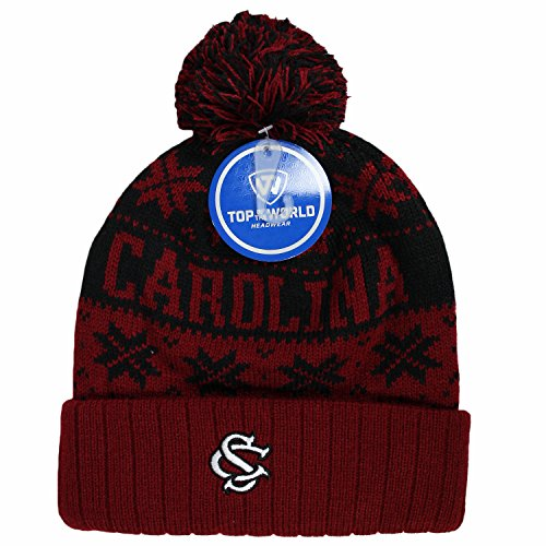 South Carolina Gamecocks Stocking (South Carolina Gamecocks Official NCAA Cuffed Knit Subartic Beanie Stocking Stretch Sock Hat Cap by Top of the World 863924)