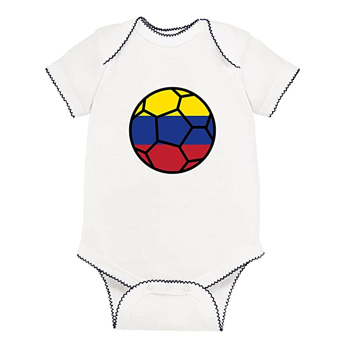 e0618ab0caea Amazon.com  Soccer Ball Colombia Baby Kid Picot Fine Jersey Bodysuit ...