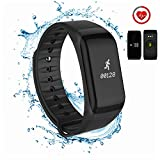 CanMixs Fitness Tracker Wristband, Activity Tracker Watch Touch Screen IP67 Waterproof with Heart Rate Monitor, Calorie Counter Pedometer Android&iOS Smart Phone for Kids Women Men