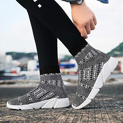 AFNGIEWg/® Hommes Femmes Baskets l/ég/ères Chaussures de Sport de Course Athl/étique Respirant Empeigne en Tricot Mode Chaussettes Chaussures Outdoors Jogging Formateurs