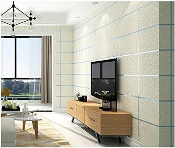 Yosot 3D Marmor Lattice Vliestapeten Fernseher Sofa Hintergrund Wand  Schlafzimmer Wohnzimmer Tapete Creme